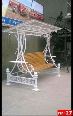 Wrought Iron Garden Furniture, Pool Patio Furniture, Iron Furniture, Steel Furniture, Furniture Design, Hanging Swing Chair, Swinging Chair, Swing Design, Chair Design