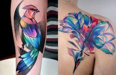 #tattoofriday - tatuagens coloridas de Carlos BreakOne inspiradas nos desenhos de grafite;