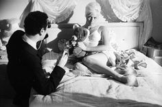 Michael Winner directs English actress Diana Dors in a bedroom scene for the crime drama 'West Get premium, high resolution news photos at Getty Images Diana Dors, Sean Flynn, Crime, Bedroom Scene, English Actresses, Great Films, On Set, Short Film, Behind The Scenes