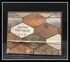 Perennial Birthday Stamp Set, Wood Texture Designer Paper, Masculine, Mosaic, Birthday