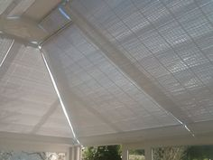 Wood weave conservatory roof blinds from Blind Technique.