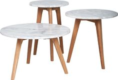 """Marble and oak wood tables """"White Stone"""" by Zuiver at stealtheroom.com"""