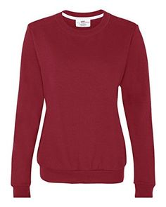 Anvil Ladies Fashion Crew Neck Sweatshirt  Independence Red  S Color Independence Red Size Small Model 71000FL ** Continue to the product at the image link.