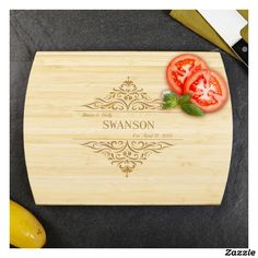Family Home Personalized Bamboo Cutting Board