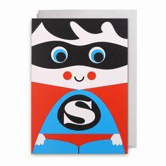 Greeting #card #superhero by #Ingela P #Arrhenius from www.kidsdinge.com https://www.facebook.com/pages/kidsdingecom-Origineel-speelgoed-hebbedingen-voor-hippe-kids/160122710686387?sk=wall