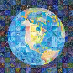Limited edition print giclee Fragile Planet 11 x 11 by CynART, $50.00
