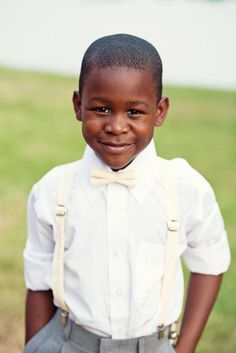 Cutest ring bearer ... suspenders and a bowtie are a must for Mr.M