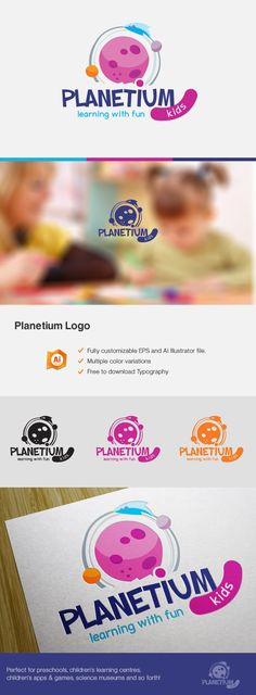 Planetium Logo. Children related. on Behance