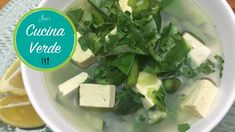 Green Vegetable Soup With Asparagus and Tofu - Recipe Tofu Recipes, Lettuce, Asparagus, Feta, Soup, Cheese, Vegetables, Green, Firm Tofu Recipes