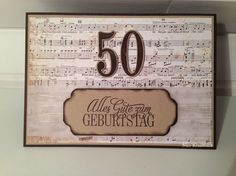 Karte zum 50. Geburtstag für einen musikalischen Herrn.