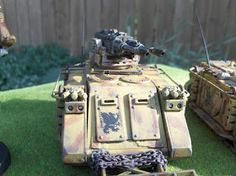 Puppets War turret on old school rhino. Fawcett Avenue Conscripts: Armies on Parade - Howling Griffons Rogue Trader Marines