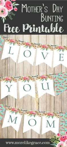 DIY Mother's Day Bunting
