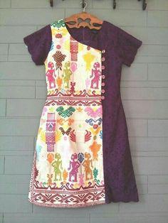 Blouse Batik, Batik Dress, Dress Batik Kombinasi, Batik Kebaya, Dress Anak, Baby Frocks Designs, Batik Fashion, Pakistani Dress Design, Little Girl Dresses