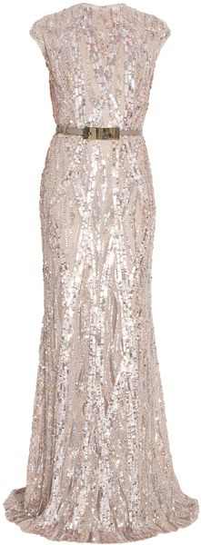 ELIE SAAB   Fully Sequin Gown - Lyst