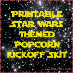 Star Wars Themed Cub Scout Popcorn Kickoff Skit A TIPical Day - Star Wars Printables - Ideas of Star Wars Printables - Star Wars Themed Cub Scout Popcorn Kickoff Skit A TIPical Day Cub Scout Skits, Cub Scout Games, Cub Scout Activities, Activities For Boys, Camping Activities, Therapy Activities, Cub Scouts Wolf, Tiger Scouts, Boy Scout Popcorn