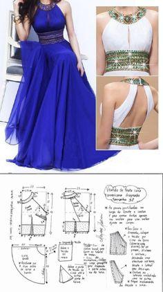 Long dress pattern size - Her Crochet Long Dress Patterns, Dress Sewing Patterns, Clothing Patterns, Wedding Dress Patterns, Fashion Sewing, Diy Fashion, Ideias Fashion, Fashion Dresses, Sewing Clothes