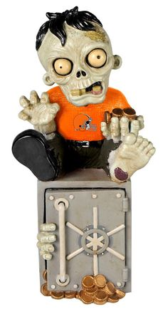 Cleveland Browns Zombie Figurine Bank