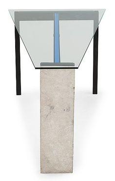 "JONAS BOHLIN, skrivbord ""Concrete"", Källemo, ca 1984.. - Höstens Contemporary, Stockholm 576 – Bukowskis"