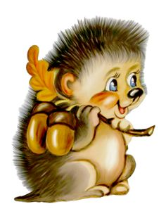 Hedgehog Clipart - Cliparts and Others Art Inspiration Cartoon Images, Cute Cartoon, Animal Drawings, Cute Drawings, Baby Animals, Cute Animals, Cute Clipart, Cute Images, Funny Animals