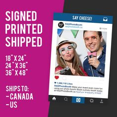 Instagram Frame / Signs - an awesome prop to promote your brand and make your event even more fun! Click to PIN to get it.