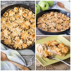 Apple Pandowdy (or Apple Pan Dowdy) - an old-fashioned skillet apple dessert with the crust pressed into the juices part-way through baking.
