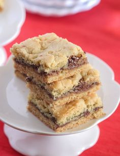 Nutella Butter Cookie Bars