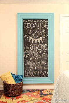 Want to build a large wall frame for a mirror or chalkboard. Follow along with this simple tutorial!