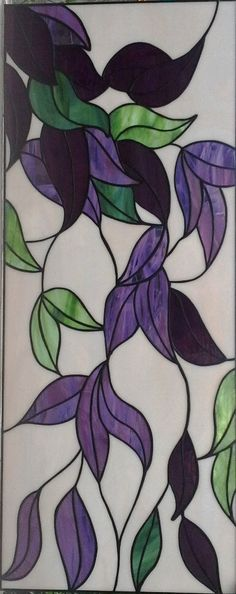 Purple Flower Stained Glass Window