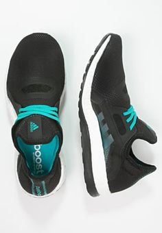adidas Performance PUREBOOST X - Trainers - core black/shock green for £71.99 (21/05/16) with free delivery at Zalando