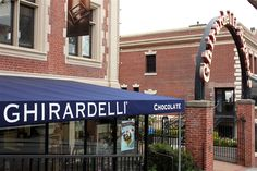 Ghiradelli Square in San Francisco was a fun stop for ice cream sundaes!!