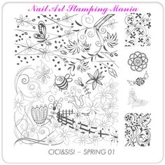Nail Art Stamping Mania: Acrylic Stamping Plate from Cici&Sisi - Swatches And Review
