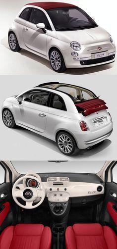 Fiat 500 Lounge. Nowy model Fiata stanowi nawiązanie do legendarnej już 500, która rządziła przez wiele lat na europejskim rynku motoryzacyjnym. Jest to idealne auto miejskie, jakie gwarantuje komfort i bezpieczeństwo podczas jazdy, a także niskie koszta, gdyż jest to bardzo ekonomiczny samochód pod względem spalania. To auto idealne do jazdy do pracy, na krótsze wycieczki. #fiat #motoryzacja #auto #moto #samochód ##Fiat ##500