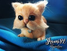 ShauniPL: Kot Perski • Garfield #needlefelt #needlefelted #persiancat #cat #felt
