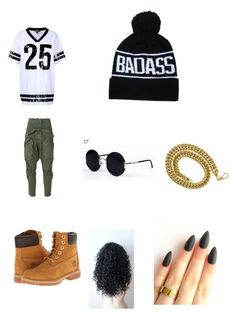 """Thuggish outfit"" by shantiboo32 ❤ liked on Polyvore featuring DKNY, Faith Connexion, Timberland and Una-Home"
