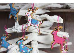 Biscuiteers Christmas reindeer tin with hand-iced biscuits