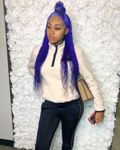 Habe u ever seen this special color before ❓💙💙 Tag the stylist below plz 👇🏼 . Click our website to choose more different style now🙋🏽♀️👏🏽 . Toddler Braided Hairstyles, Toddler Braids, Feed In Braids Hairstyles, Baddie Hairstyles, Black Girls Hairstyles, Weave Hairstyles, Cute Hairstyles, Amazing Hairstyles, Protective Hairstyles