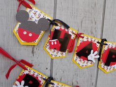 MICKEY MOUSE Birthday Banner, Mickey Mouse First Birthday, Mickey Mouse Party, Boutique Party Decorations
