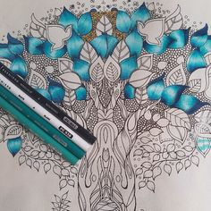 Take a peek at this great artwork on Johanna Basford's Colouring Gallery! Secret Garden Coloring Book, Coloring Book Art, Coloring Pages, Blending Colored Pencils, Colored Pencil Techniques, Enchanted Forest Coloring Book, Colouring Techniques, Drawing Techniques, Johanna Basford Coloring Book