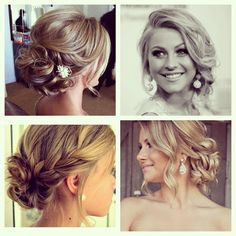 beautiful loose updos. I love the ine in the upperright hand corner