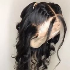 hriving Hair Pre-Plucked Virgin Full Lace Wigs With Baby Hair Glueless Bouncy Wave Human Hair For Women Source by thrivinghair Wig Styles, Curly Hair Styles, Natural Hair Styles, Baddie Hairstyles, Braided Hairstyles, Hairstyles For Curly Hair, Black Prom Hairstyles, 1950s Hairstyles, Hairstyles Pictures