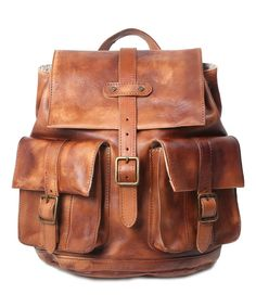 Look at this OLD TREND Chestnut City Traveler Leather Backpack on #zulily today!