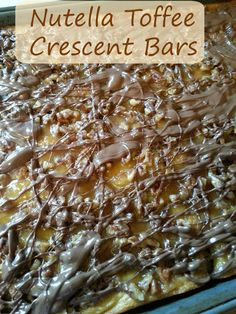 The Better Baker: Nutella Toffee Crescent Bars