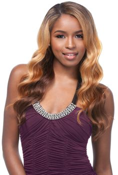 Sensationnel Empress Lace Front Wig - Venus, comes with a 2 wayξL Part. Made of premium synthetic fibers, hand-tied with a deep curved for a more natural shaped part from edge to crown. You can curl