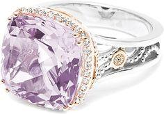 Rose Amethyst & Diamond ring