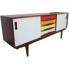 Dot & Bo Part of the Rainbow Sideboard ($1,719) ❤ liked on Polyvore featuring home, furniture, storage & shelves, sideboards, eclectic furniture and colored furniture