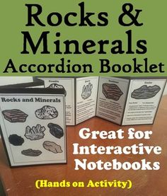Rocks and Minerals: This rocks and minerals accordion booklet is a fun hands on activity for students to use in their interactive notebooks. Hands On Activities, Science Activities, Science Projects, Rock Cycle, Simple Machines, Beaded Jewelry Patterns, Interactive Notebooks, Rocks And Minerals, Booklet
