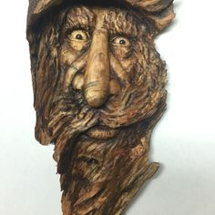 Wood Spirit Wood Carving Hand Carved Wood Art by by JoshCarteArt