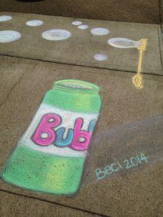 Sidewalk chalk Bubbles