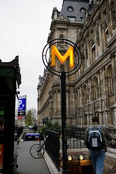"Look! A #Michigan ""M"" in Paris."