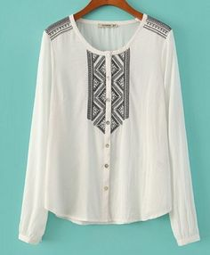 AUTUMN NEW FASHION WOMEN'S POSITIONING EMBROIDERED ROUND NECK COTTON SHIRT ST2580